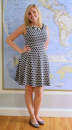 Pixley Millie Textured Dress - Would love to try this in navy or gray!