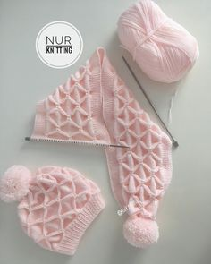 Beğenİ Ve Yorumlarinizi Beklİyorum Nu Diy Crafts Knitting, Diy Crafts Crochet, Easy Knitting Patterns, Knitting Designs, Baby Patterns, Crochet Baby Beanie, Baby Hats Knitting, Knitted Hats, Knit Crochet