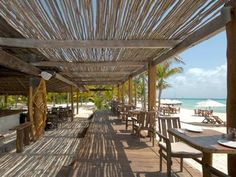 Isla Mujeres Beachfront Hotels & Resorts at Playa Norte Beach Hotels, Hotels And Resorts, Beach Pool, Pig Beach, Ideas Terraza, Beach Cafe, Tulum, Outdoor Restaurant, Beach Gardens
