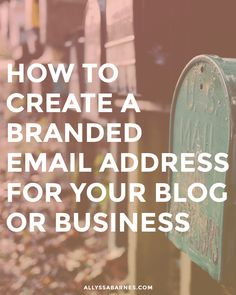 How to create a branded email address for your blog or business | Your blog isn't a hobby. You've taken the plunge and purchased a domain, yet you're still using a Gmail/Yahoo/iCloud/AOL email address. Why? Using a branded email address looks so much more legit than a Gmail one. Give yourself an instant credibility boost by using your domain as your email. Click through to learn how!
