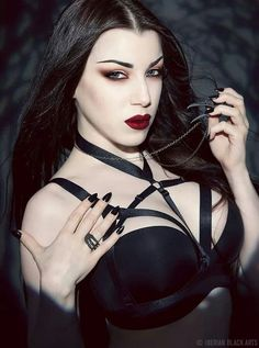 A page were you can see that goth can still mean beautiful . A place to be Goth and proud. Goth Beauty, Dark Beauty, Wicca, Gothic Fashion, Fashion Beauty, Wolf, Goth Women, Gothic Dolls, Metal Girl