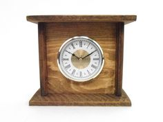 $35.00 - This Rustic Pallet Wood Mantel Clock is handcrafted from pallet wood, then stained and sealed with walnut colored Danish Oil. Due to being created from pallets, the wood does have the nail holes and other imperfections that give it its rustic charm...Click on the image above for more information or to buy from WileWood. Thank you for your interest!
