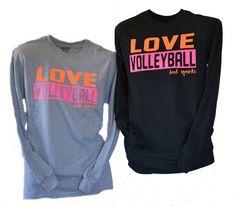 Love Volleyball Long Sleeve Tshirt BAD Sportz