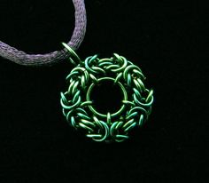 Byzantine Coin Chainmaille Pendants by ChainedBeauty on Etsy