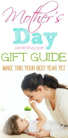Mother's Day Gift Guide | SarahTitus.com ~ Saving Money Never Goes Out of Style