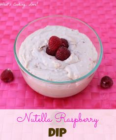 Nutella Raspberry Dip is a delicious dessert dip with the combination of Nutella and raspberry flavor. Nutella Recipes, Dip Recipes, Appetizer Recipes, Appetizers, Dessert Dips, Dessert Recipes, Just Desserts, Delicious Desserts, Recipes
