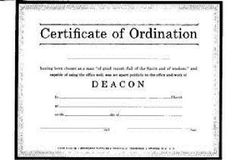 certificate of ordination deacon billfold size pack of 6 465444