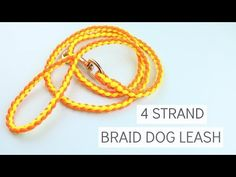 How to make a paracord cobra weave dog leash easy tutorial 4 Strand Round Braid, 4 Strand Braids, Diy Braids, Paracord Dog Leash, Rope Dog Leash, Paracord Braids, Paracord Knots, Paracord Bracelets, Diy Tresses