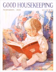 Good Housekeeping magazine cover by Jessie Willcox Smith, February 1920 Old Magazines, Vintage Magazines, Munier, Magazine Art, Magazine Covers, Canvas Prints, Art Prints, Good Housekeeping, Children's Literature