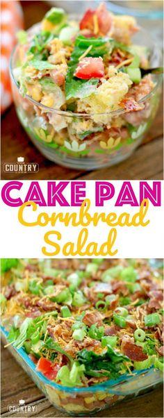 Cake Pan Layered Cornbread Salad with Lipton Iced Tea and The Country Cook #ad #LiptonMeal #LiptonMealSweepstakes