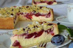 All Time Easy Cake : Plum - cheesecake, Pie Co, Gateaux Cake, Sweets Cake, Great Desserts, Fall Baking, Clean Eating Recipes, Sweet Tooth, Food And Drink, Yummy Food
