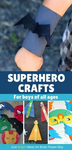 If you need superhero crafts, we have you covered!  #superheroes #superhero #crafts #superherocrafts