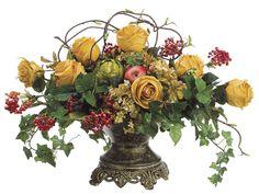 Elegant Silk Flower Arrangements | silk flowers elegant silk flower elegant silk flower arrangement in ...