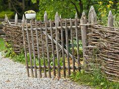 Zaun für einen Bauerngarten