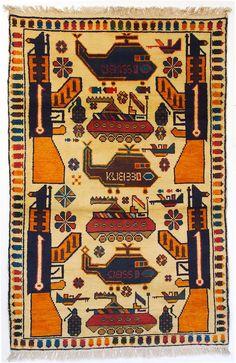 146x97cm  Afghan Warrug Kriegteppich Handgeknüpf Teppich Rug Afghanistan Pk-4