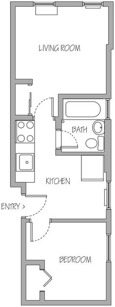 First Visit: Floor plan & Photos of NYC Apt design diary (step 2)