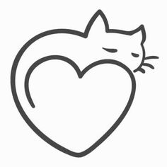 Afbeeldingsresultaat Voor Simple Line Drawing Cat Cat Art In 2019