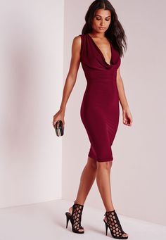3353ea2d47e4a Get your flaunt on this season in seriously smokin  burgundy midi dress. In  a