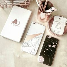 Gold, marble, grey and copper - shop beautiful natural, earthy textures for your phone.