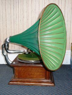 Classic Gramophone Phonograph Sound-machine Grammophon Neu Retro-music-player