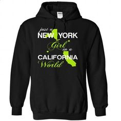 (NYJustXanhChuoi001) Just A New York Girl In A Californ - t shirt printing #teeshirt #style