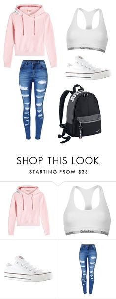 """Sans titre #452"" by stylesforstars ❤ liked on Polyvore featuring Vetements, Calvin Klein, Converse, WithChic and NIKE"
