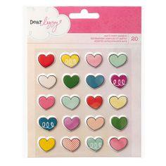 "Dear Lizzy ""Daydreamer"" Matte Puffy Stickers - Hearts"