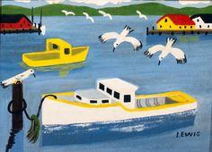 Maude Lewis from Nova Scotia was a wonderful folk artist.