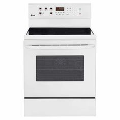 LG 30-in Smooth Surface Freestanding 5-Element 6.3-cu ft Convection Electric Range (White)