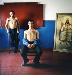 Religion class, men's prison, 2008, Michal Chelbin