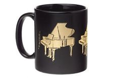 Grand Piano Mug - Music Gifts for Musicians. Does your piano teacher drink coffee? This would make a great gift! Piano Gifts, Guitar Gifts, Music Gifts, Big Coffee Mugs, Black Coffee Mug, Drink Coffee, Blank Cards And Envelopes, Drummer Gifts, Electric Piano