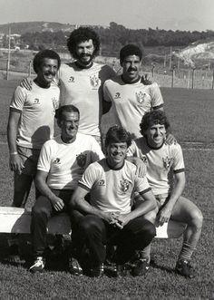 Coach of Brazil #TelêSantana during #WC1982 along with those will be the new signatures of Italian football: #Junior (#TorinoFC), #Socrates (#ACFiorentina), #ToninhoCerezo (#ASRoma), #Edinho and #Zico (#UdineseCalcio)