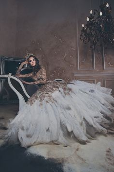 61 Fur, Feather and Ruffles. 61 Fur, Feather and Ruffles. Ball Dresses, Ball Gowns, Prom Dresses, Vestidos Color Blanco, Fairytale Gown, Fantasy Gowns, Beautiful Gowns, Dream Dress, Pretty Dresses