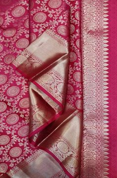 Discover thousands of images about Pink Handloom Kanjeevaram Pure Silk Saree