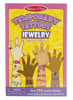 Melissa & Doug Temporary Jewelry Tattoos