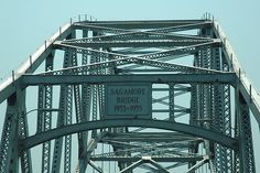 Sagamore Bridge ~ Cape Cod  MA  Wake up! We're at the bridge.  What you can't see in this pic is the long line of traffic. Totally worth it though.