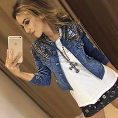 Rock Chic Outfits, Best Casual Outfits, How To Make Clothes, Diy Clothes, Clothes For Women, Diva Fashion, Denim Fashion, Look Jean, Egypt Fashion