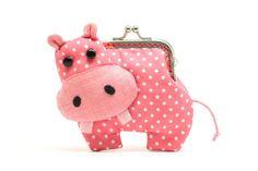 Friggen adorable for a little girl!  Little romantic pink hippo clutch purse. $24.90, via Etsy.