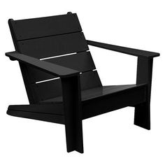 Target : FSC Certified Iconic Wood Patio Adirondack Chair - Black : Image Zoom