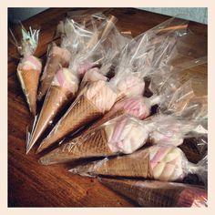 Spek ijsjes (spek ook te vervangen door bijv mandarijn)