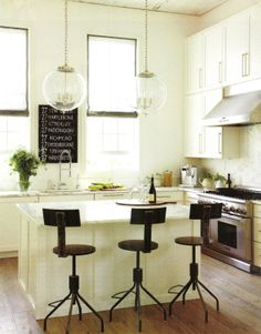 Love this modern country look kitchen by Tracery Interiors...