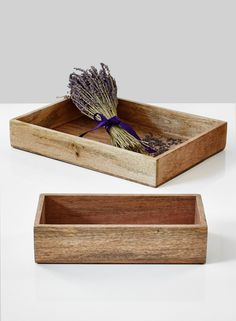 Get organized, serve some drinks, or add to your decor, with these natural wood trays. The small tray can be a…