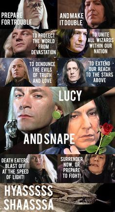 Hahaha-Lucy and Snape