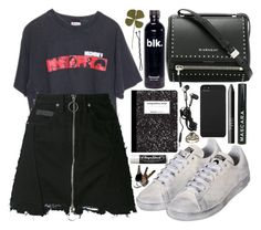 """luck would have it"" by velvet-ears ❤ liked on Polyvore featuring County Of Milan, adidas, Givenchy, Chapstick, Hot Topic, Incase and NARS Cosmetics"