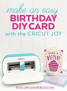 Make a DIY Greeting Card with the Cricut Joy and the Cricut Card Mat by Pineapple Paper Co. Diy Greeting Cards For Birthday, Vintage Birthday Cards, Vintage Greeting Cards, Vintage Postcards, Birthday Greetings, Vintage Images, Birthday Wishes, Birthday Diy, Birthday Images
