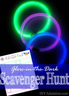 Get ready for the most versatile glow game yet with this glow-in-the-dark scavenger hunt! It is perfect for indoors, outdoors, vacations, and more.