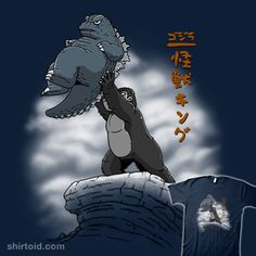 """""""The Kaiju King"""" by Kaiju Realm King Kong and Godzilla in the style of The Lion King King Kong Vs Godzilla, Godzilla Vs, Original Godzilla, All Godzilla Monsters, Old School Cartoons, Cute Chibi, Kawaii, Cute Art, Funny Memes"""