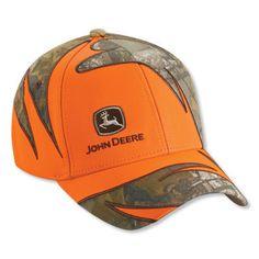 John Deere Mens Blaze Orange Realtree X-TRA Camo Hat – GreenToys4u.com  Turbantes 942ff29e318