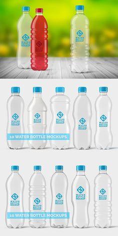 Plastic Water Bottle Mockups Bundle Water Bottle Design, Plastic Bottle Design, Best Water Bottle, Bottled Water, Aluminum Water Bottles, Plastic Water Bottles, Label Design, Packaging Design, Graphic Design