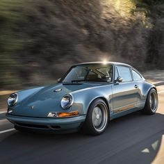 Singer Porsche. Beautiful vintage car. Old school classy that evokes Old Hollywood Glamour